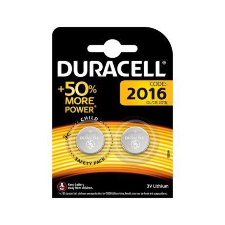 Duracell 2016 3V Lithium PAK2 CK